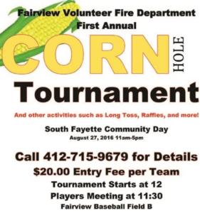 South Fayette Community Day Cornhole Tournament